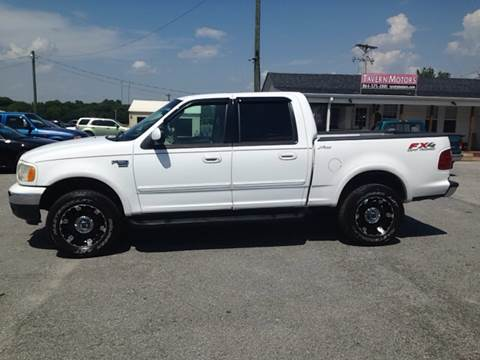 2002 Ford F-150 for sale at TAVERN MOTORS in Laurens SC