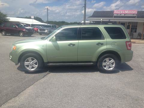 2008 Ford Escape Hybrid for sale at TAVERN MOTORS in Laurens SC