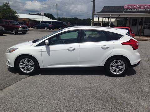 2012 Ford Focus for sale at TAVERN MOTORS in Laurens SC