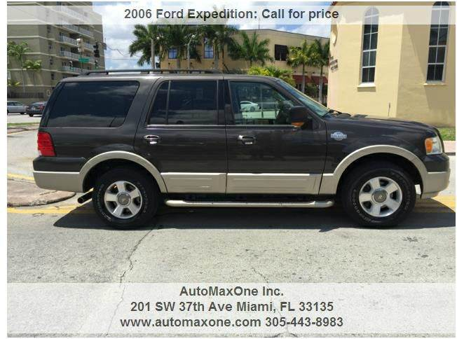 Ford Expedition King Ranch Dr Suv Miami Fl