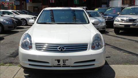 2004 Infiniti G35 for sale at TJ AUTO in Brooklyn NY