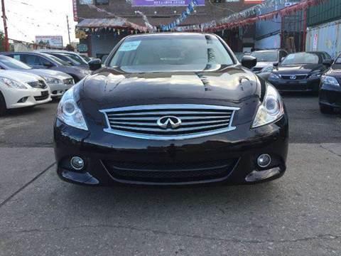 2012 Infiniti G37 Sedan for sale at TJ AUTO in Brooklyn NY
