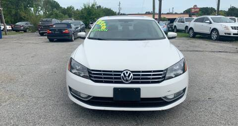 2013 Volkswagen Passat for sale at Auto Mart in North Charleston SC