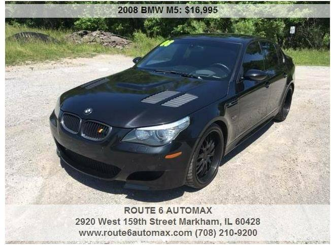 2008 BMW M5 for sale at ROUTE 6 AUTOMAX in Markham IL