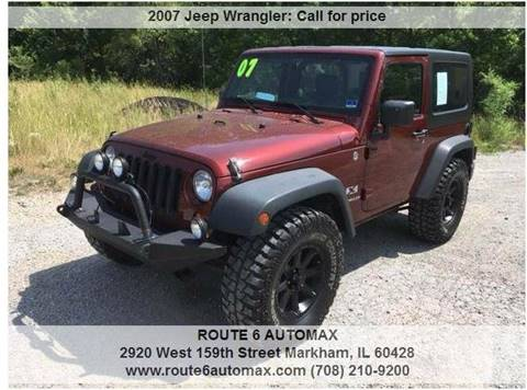 2007 Jeep Wrangler for sale at ROUTE 6 AUTOMAX in Markham IL