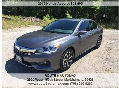 2016 Honda Accord for sale at ROUTE 6 AUTOMAX in Markham IL