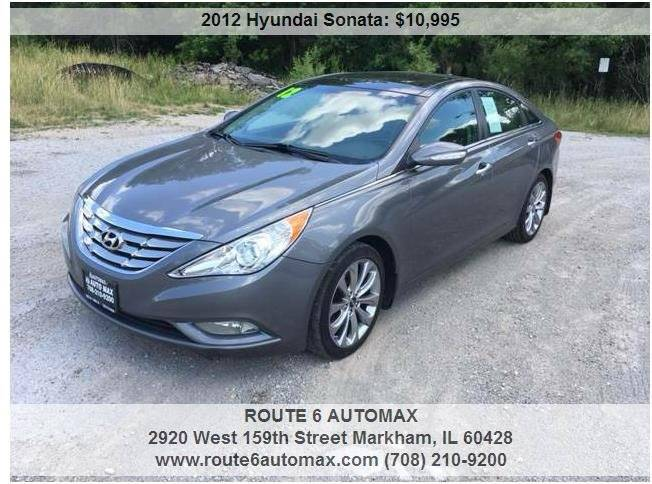 2012 Hyundai Sonata for sale at ROUTE 6 AUTOMAX in Markham IL