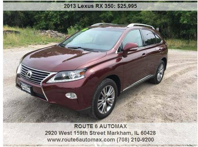 2013 Lexus RX 350 for sale at ROUTE 6 AUTOMAX in Markham IL