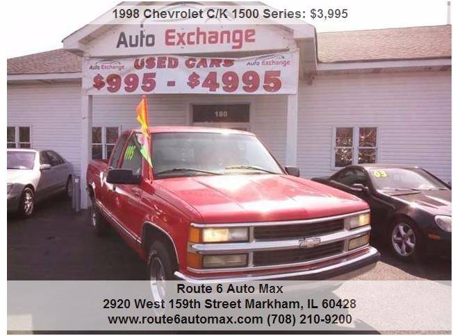 1998 Chevrolet C/K 1500 Series for sale at ROUTE 6 AUTOMAX - THE AUTO EXCHANGE TRADE LOT in Harvey IL