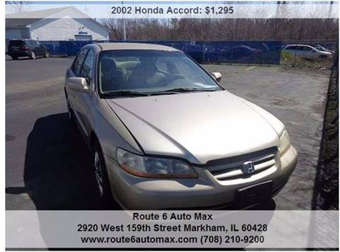 2002 Honda Accord for sale at ROUTE 6 AUTOMAX - THE AUTO EXCHANGE TRADE LOT in Harvey IL