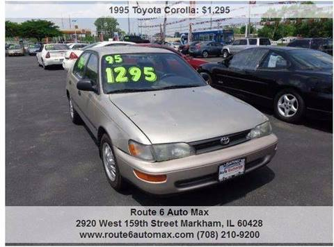 1995 Toyota Corolla for sale at ROUTE 6 AUTOMAX - THE AUTO EXCHANGE TRADE LOT in Harvey IL