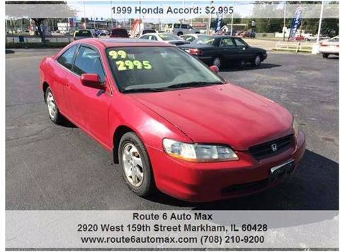 1999 Honda Accord for sale at ROUTE 6 AUTOMAX - THE AUTO EXCHANGE TRADE LOT in Harvey IL