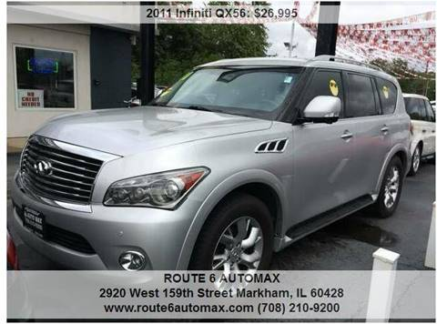 2011 Infiniti QX56 for sale at ROUTE 6 AUTOMAX in Markham IL