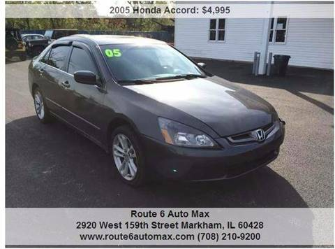 2005 Honda Accord for sale at ROUTE 6 AUTOMAX - THE AUTO EXCHANGE TRADE LOT in Harvey IL