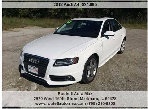 2012 Audi A4 for sale at ROUTE 6 AUTOMAX in Markham IL