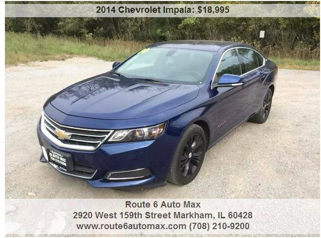 2014 Chevrolet Impala for sale at ROUTE 6 AUTOMAX in Markham IL