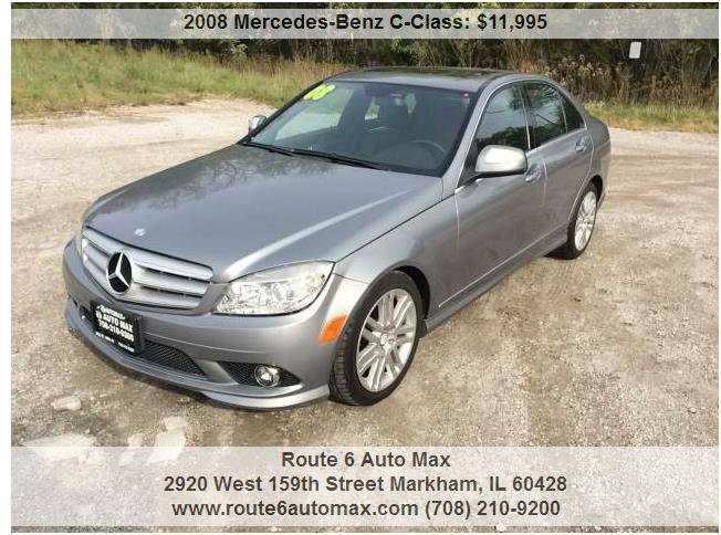 2008 Mercedes-Benz C-Class for sale at ROUTE 6 AUTOMAX in Markham IL