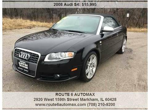 2008 Audi S4 for sale at ROUTE 6 AUTOMAX in Markham IL