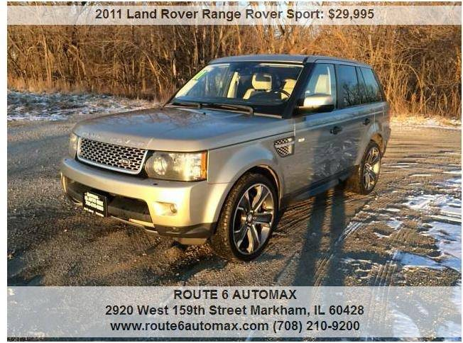 2011 Land Rover Range Rover Sport for sale at ROUTE 6 AUTOMAX in Markham IL