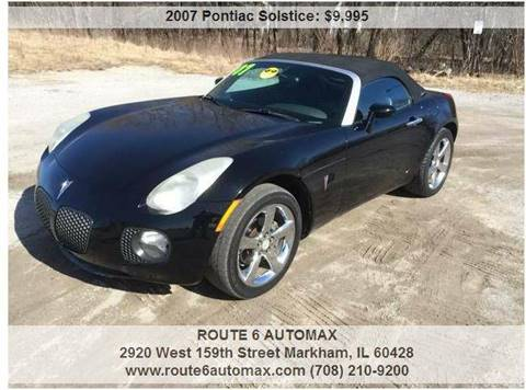 2007 Pontiac Solstice for sale at ROUTE 6 AUTOMAX in Markham IL