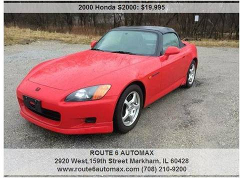 2000 Honda S2000 for sale at ROUTE 6 AUTOMAX in Markham IL