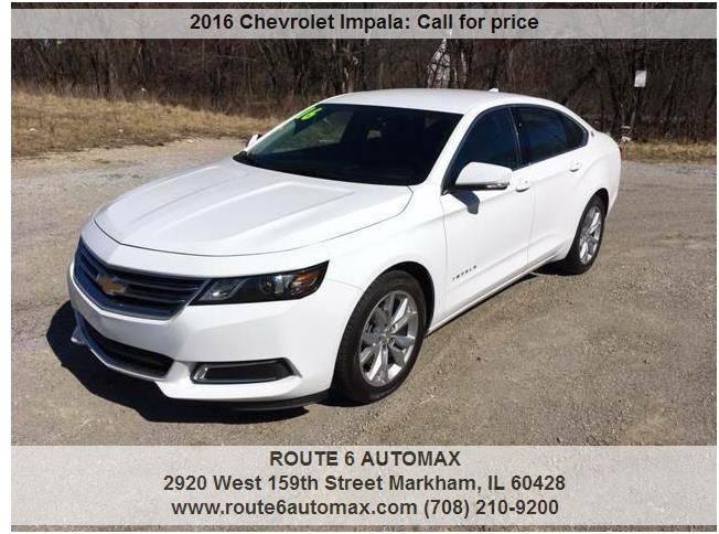 2016 Chevrolet Impala for sale at ROUTE 6 AUTOMAX in Markham IL