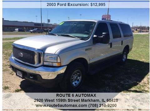 2003 Ford Excursion for sale at ROUTE 6 AUTOMAX in Markham IL
