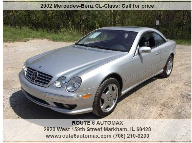 2002 Mercedes-Benz CL-Class for sale at ROUTE 6 AUTOMAX in Markham IL