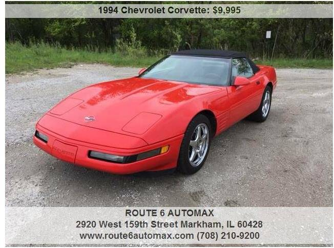 1994 Chevrolet Corvette for sale at ROUTE 6 AUTOMAX in Markham IL