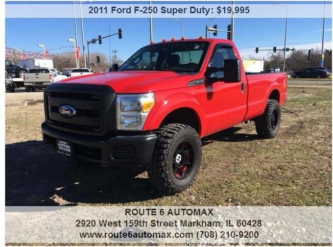 2011 Ford F-250 Super Duty 4x4 XL 2dr Regular Cab 8 ft. LB Pickup - Harvey IL