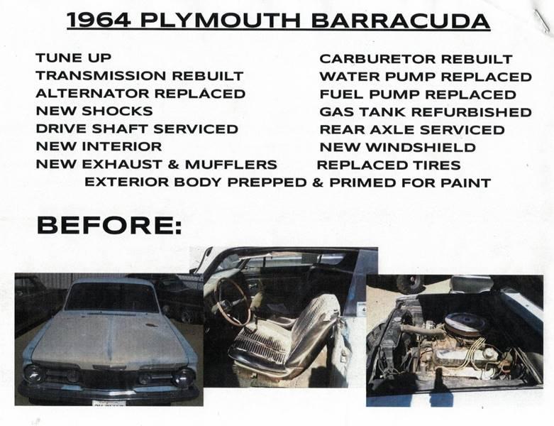 1964 Plymouth Barracuda  - Littlerock CA