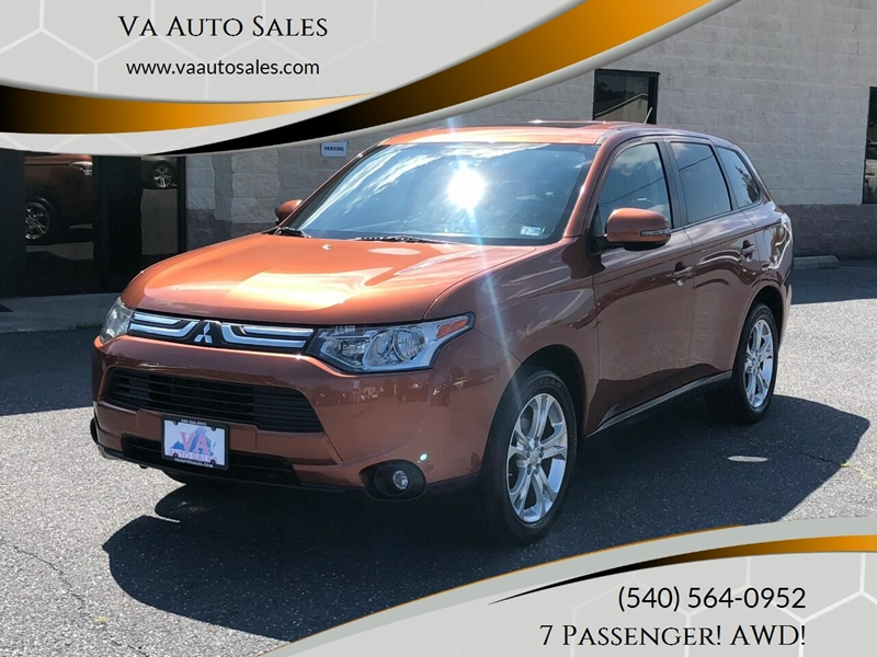 Virginia Auto Sales Tax >> 2014 Mitsubishi Outlander Awd Se 4dr Suv In Harrisonburg Va