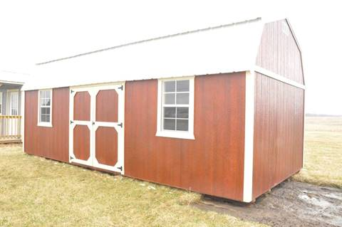 Side Lofted Barn 12x24 for sale at Brett's Automotive in Kahoka MO