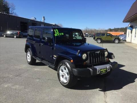 2013 Jeep Wrangler Unlimited for sale in Enfield, NH