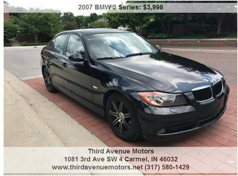 2007 BMW 3 Series for sale at Third Avenue Motors Inc. in Carmel IN