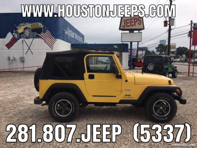 2004 Jeep Wrangler For Sale At SPRAUER MOTORSPORTS In Houston TX