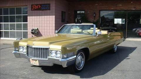 1970 Cadillac DeVille for sale at Pat's Auto Sales, Inc. in West Springfield MA