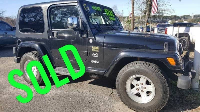 2004 Jeep Wrangler For Sale At Rodgers Enterprises Of Summerville Inc. In  North Charleston SC
