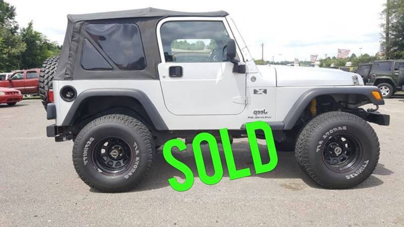 2006 Jeep Wrangler For Sale At Rodgers Enterprises Of Summerville Inc. In  North Charleston SC