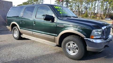 2002 Ford Excursion for sale at Rodgers Enterprises in North Charleston SC