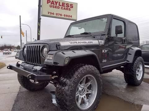 1998 Jeep Wrangler for sale in Wayne, MI