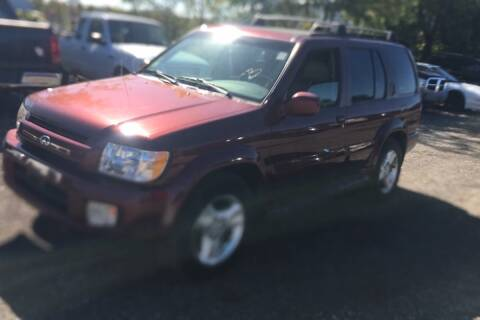 2001 Infiniti QX4 for sale at WEINLE MOTORSPORTS in Cleves OH