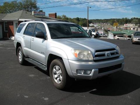 2003 Toyota 4Runner for sale at Hilltop Car Sales in Knoxville TN