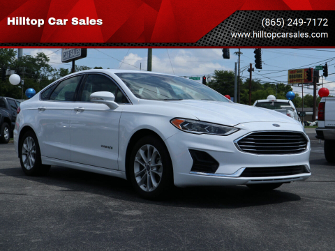 2019 Ford Fusion Hybrid for sale at Hilltop Car Sales in Knox TN
