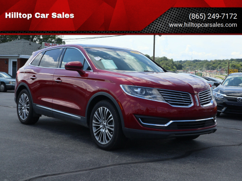 2017 Lincoln MKX for sale at Hilltop Car Sales in Knox TN