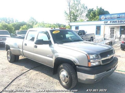 2003 Chevrolet Silverado 3500 for sale in Finksburg, MD
