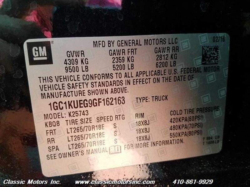 2016 Chevrolet Silverado 2500HD CrewCab LT 4X4 - Finksburg MD