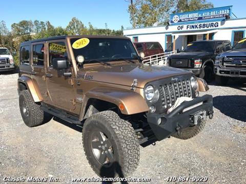 2015 Jeep Wrangler Unlimited for sale in Finksburg, MD