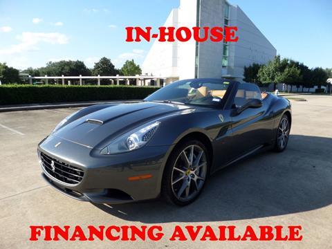 Used Ferrari For Sale >> 2010 Ferrari California For Sale In Houston Tx