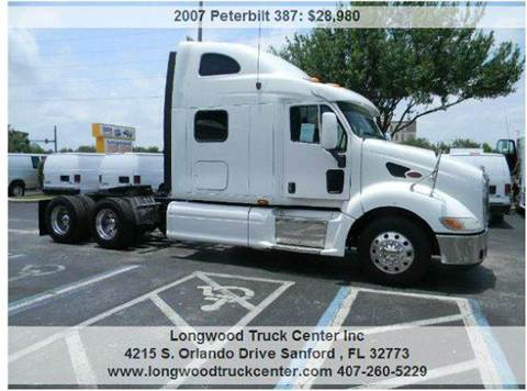 2007 Peterbilt 387 for sale at Longwood Truck Center Inc in Sanford FL